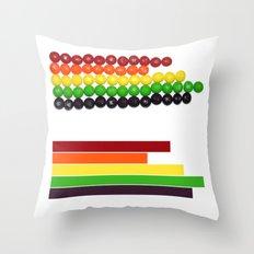 Skittle Stats Throw Pillow