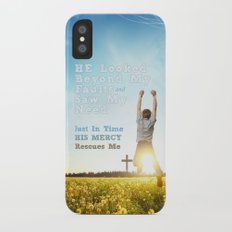 He Looked Beyond My Fault iPhone X Slim Case