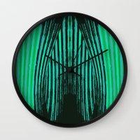ikat Wall Clocks featuring IKAT IKAT by SHERYLCOLOUR