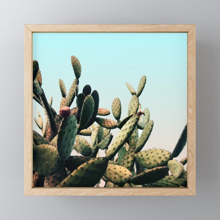 Summer Cactus Framed Mini Art Print