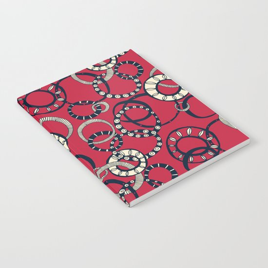 Honolulu hoopla red Notebook