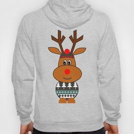 Reindeer in snow Hoody