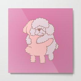Poodle Hugs Metal Print