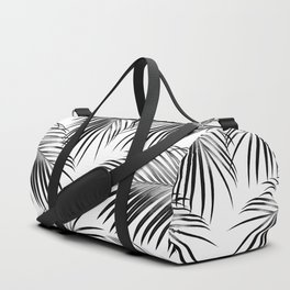 Black Palm Leaves Dream #2 #tropical #decor #art #society6 Duffle Bag