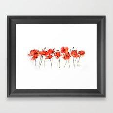 Remember me _ Poppies Framed Art Print