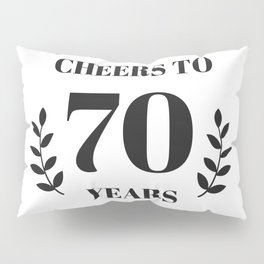 Cheers to 70 Years. 70th Birthday Party Ideas. 70th Anniversary Pillow Sham