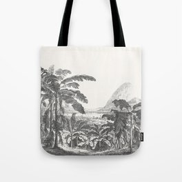 Palms and Mountain Tote Bag