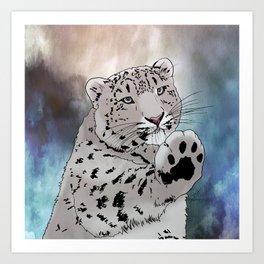 Give Me a Paw Art Print