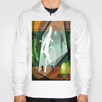 tennis Hoodies featuring Tennis by Robin Curtiss