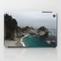 big sur iPad Cases featuring Big Sur McWay Falls by David Hohmann