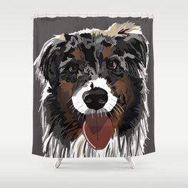 Watson the Australian Shepherd Shower Curtain
