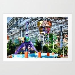 Permanent amusement park Art Print