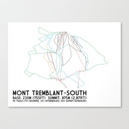 Mont Tremblant, Quebec, Canada -South Side - Minimalist Trail Art Canvas Print