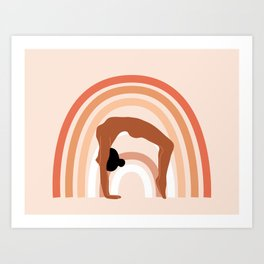 Rainbow yoga Art Print