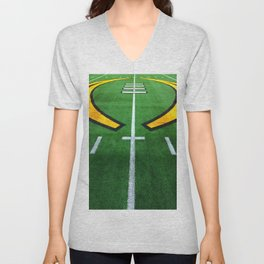 Rugby playing field Unisex V-Neck