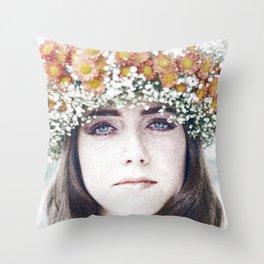 Face flower Throw Pillow