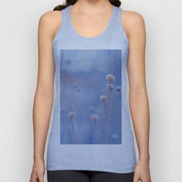Wild White Flowers Against A Purple Background Unisex Tank Top