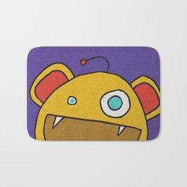 Slightly Amused Monsters, III Yellow Bath Mat
