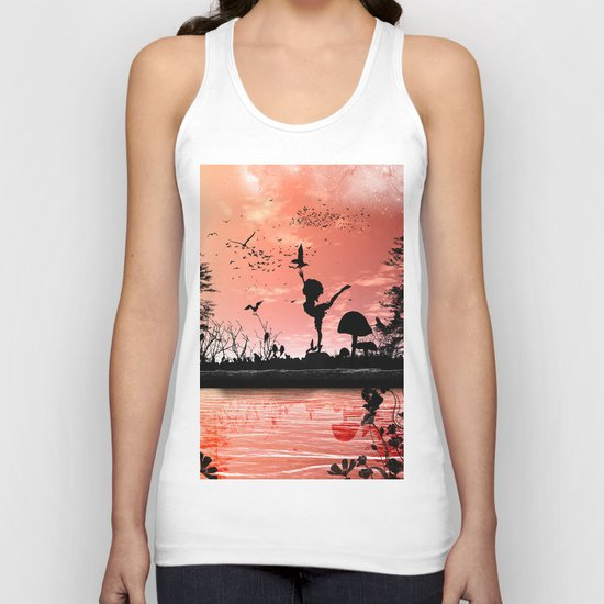 Dancing with the birds Unisex Tank Top