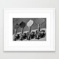 bass Framed Art Prints featuring Bass by Jake Stanton