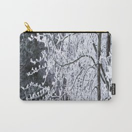 Snowy Tree Branches Winter Scene #decor #society6 #buyart Carry-All Pouch