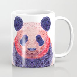 Don't Be Scared To Be Different If You're Already Rare (Panda Animal Painting Stippled Pop Art) Coffee Mug