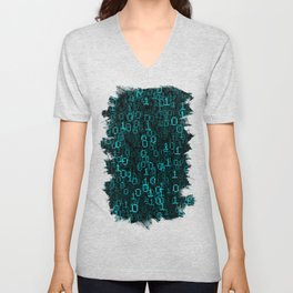 Binary Data Cloud Unisex V-Neck