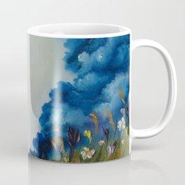 Sky Break, Skyscape, Landscape, Field of Flowers, Wild Flowers Coffee Mug