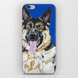 Portrait of Sam the German Shepherd iPhone Skin