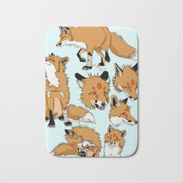 Lord Fox character design, color Bath Mat
