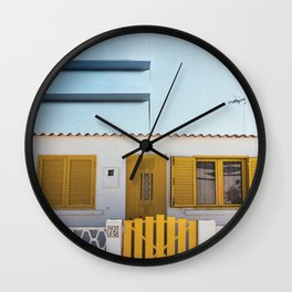 The Little Yellow House Wall Clock