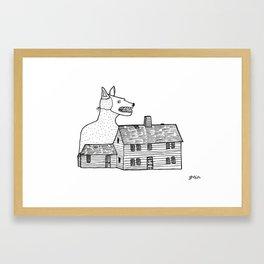 Doghause Framed Art Print