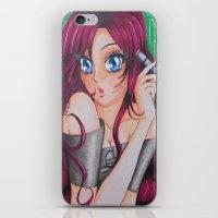 manga iPhone & iPod Skins featuring Manga Portrait by HappyPaper87