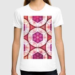 Fuschia Deep Salmon Geometrics T-shirt