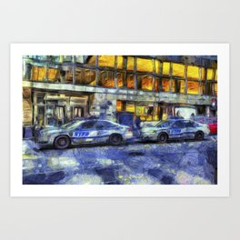 New York police Department Van Gogh Art Print
