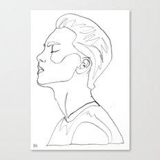 side portrait  Canvas Print