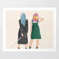 Amie & Callie Art Print