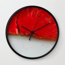 Sandía (rojo y blanco) Wall Clock