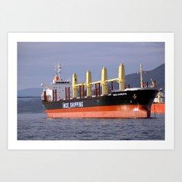 Freighter Art Print
