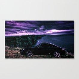 Black Porsche GTS Canvas Print