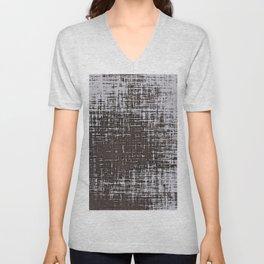 Woven Grey Abstract Unisex V-Neck