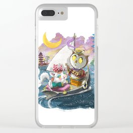 Owl and the Pussycat Clear iPhone Case