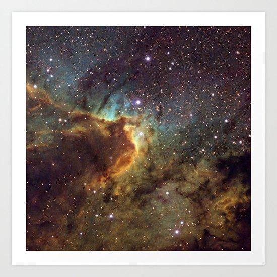 Cave Nebula SH2-155 Art Print
