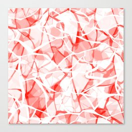 White red abstract Canvas Print
