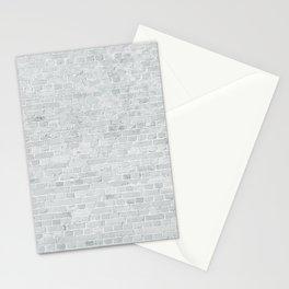 White Washed Brick Wall Stone Cladding Stationery Cards