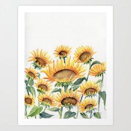 Sunflowers Love Art Print