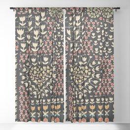 Native Tulips Sheer Curtain
