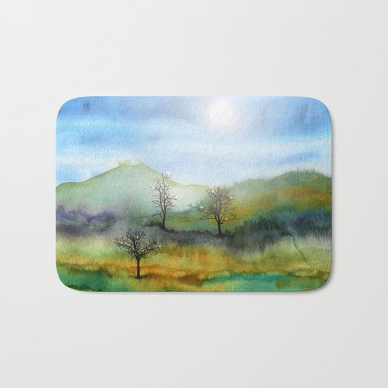Christmas In The Woods Bath Mat