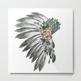 Floral Headdress Metal Print