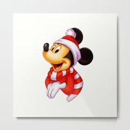 Cute christmas Mickey Metal Print